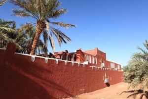Kasbah in der Sahara Algeriens foto