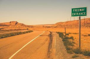 entrada da rodovia foto