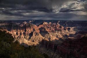 tempestade do grande canyon foto