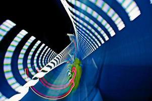 vista abstrata do túnel da via expressa