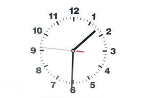 mostrador do relógio isolado no fundo branco foto