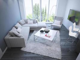 tendência techno de sala de estar