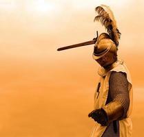 fundo laranja cavaleiro foto