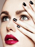 retrato de beleza em close-up