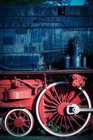 detalhe da locomotiva a vapor foto