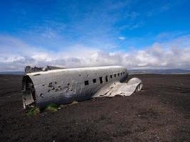 naufrágio de um avião militar dos EUA caiu na Islândia foto