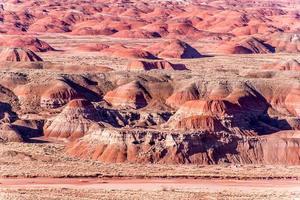 vista do deserto pintado no arizona, eua