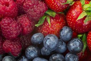 mix de frutas de baga. foto