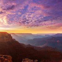 ponto yavapai do parque nacional do grand canyon do arizona ao pôr do sol