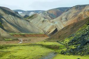 montanhas multicoloridas em landmannalaugar