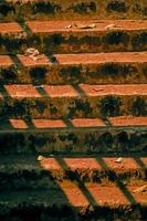 degraus com sombra de corrimão foto