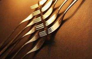 conceito de garfos de cozinha foto
