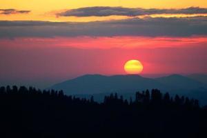 parque nacional sequóia ao pôr do sol
