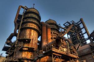 indústria de fabricação de ferro-gusa, ostrava, república checa foto