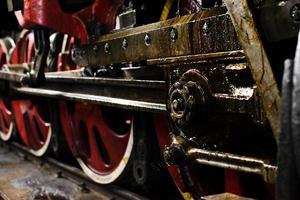 fragmento de locomotiva foto