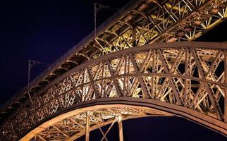 velha ponte de aço foto
