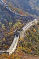 segmento tele da grande muralha da china foto