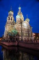 Igreja sobre sangue derramado em São Petersburgo, Rússia. foto