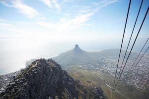 bela paisagem montanhosa na áfrica do sul vista de altura