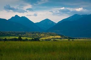 montanhas da Eslováquia. foto