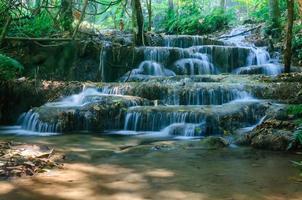 Cachoeira phu-kaeng em floresta densa na Tailândia foto