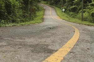 vista de estrada de asfalto