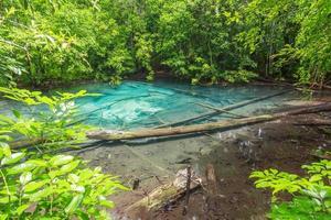 lagoa de safira azul é incrível em Krabi, Tailândia foto