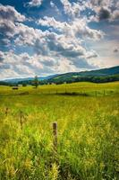 campos agrícolas nas terras altas rurais de Potomac da Virgínia Ocidental.