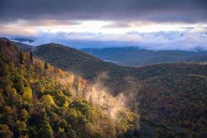 manhã nublada amanhecer