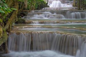 Huay mae kamin cachoeira, província de kanchanaburi