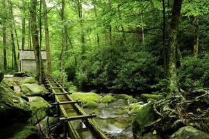 canal no esfumaçado parque nacional da montanha