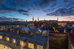 Tallinn, Estônia na cidade velha. foto