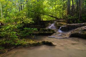 cachoeira erawan, kanchanaburi