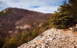 vista da montanha de jack, na união do monte, na Pensilvânia.