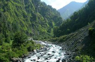 rio no alto Himalaia, Índia