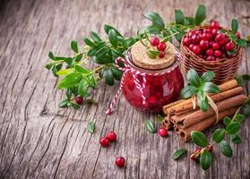 molho de cranberry foto