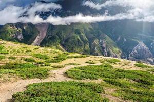 vista nas montanhas dos Cárpatos