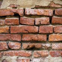 superfície da parede de tijolos