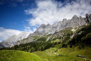 área montanhosa de Hochkoenig foto