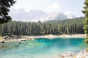 Karersee no Tirol do Sul