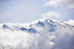 montanha de neve foto