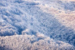 montanhas dos cárpatos colinas congeladas