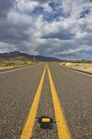 estrada para as montanhas de Guadalupe