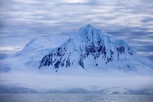 antarctica blue soft mountain