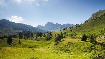 vale da montanha no verão