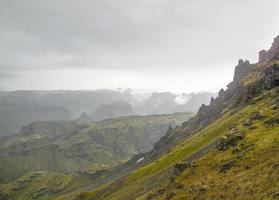 cenário de montanhas na Islândia