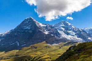 face norte eiger, glaciar eiger e monch