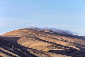 cume do vulcão no parque nacional de timanfaya