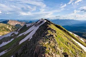 montanha cume vista verão