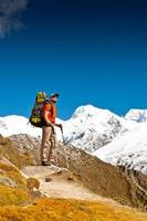 caminhadas nas montanhas do Himalaia